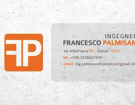 #13 para Business Card Design for francesco palmisano ingegnere por ManuelSabatino