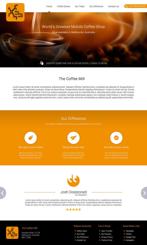 Konkurrenceindlæg #                                        27                                      for                                         Design a Website Mockup for a Mobile Coffee Business