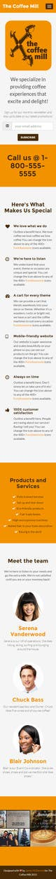 Konkurrenceindlæg #                                                6                                              billede for                                                 Design a Website Mockup for a Mobile Coffee Business