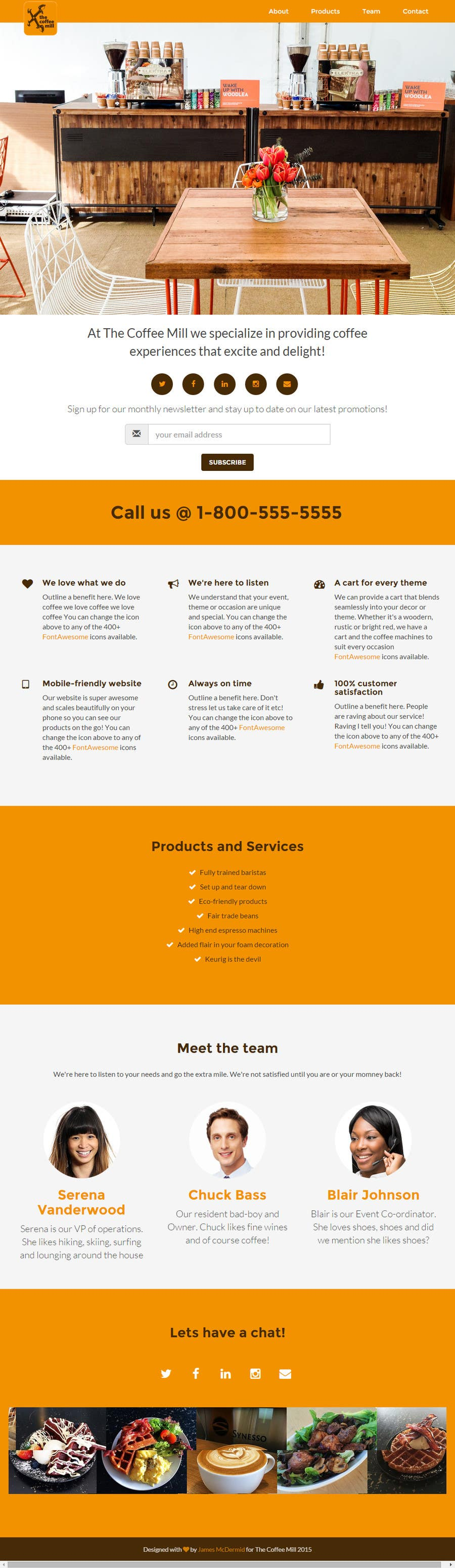 Contest Entry #21 for Design a Website Mockup for a Mobile Coffee Business