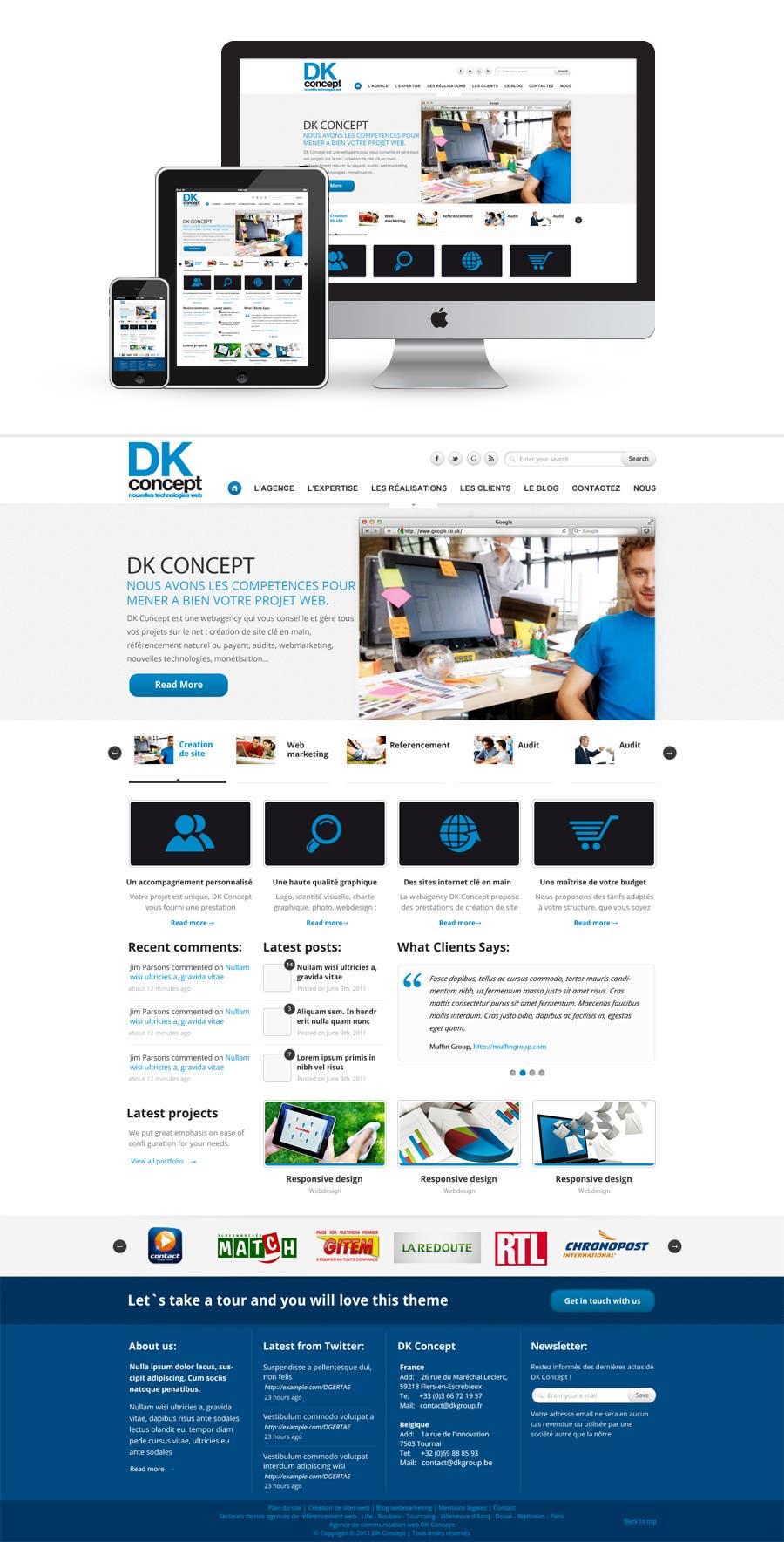 Proposition n°9 du concours Website Design for company group