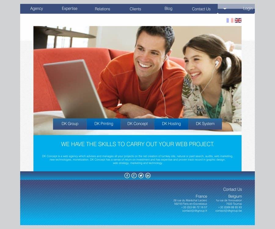 Kilpailutyö #18 kilpailussa Website Design for company group