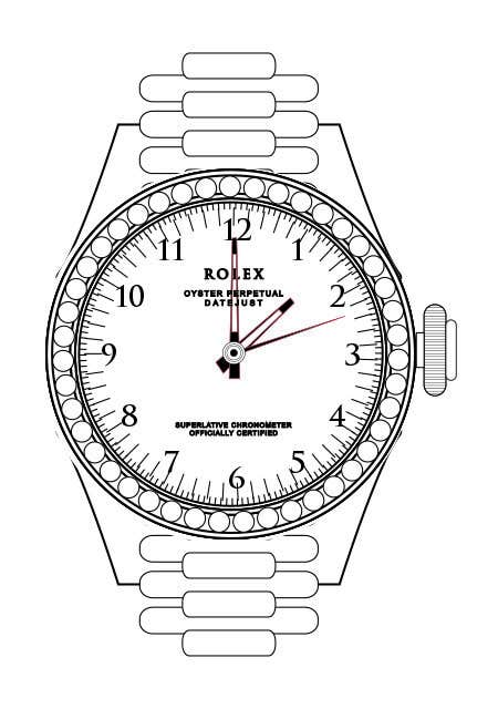 Contest Entry #                                        6                                      for                                         Need to raw illustration of a Rolex watch