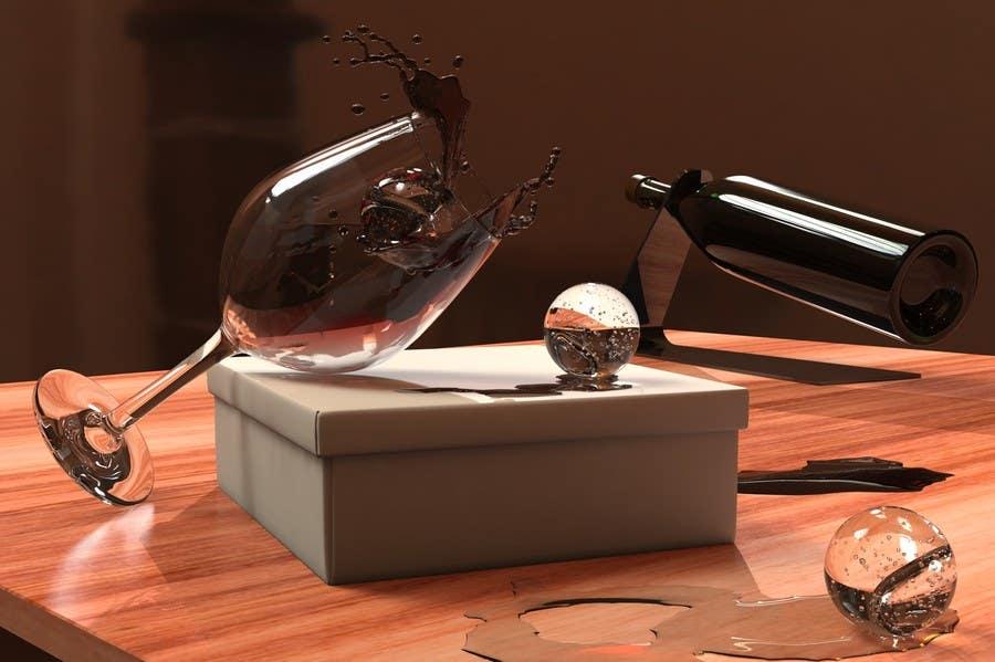 Inscrição nº 12 do Concurso para Create a capturing illustration of ice balls with splash