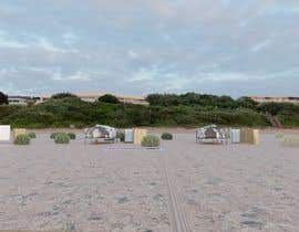 Damai15 tarafından Small boutique campsite design - 3d exterior design including landscape for a fancy camp ground (glamping) için no 8