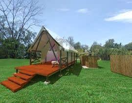EKRAMUL825 tarafından Small boutique campsite design - 3d exterior design including landscape for a fancy camp ground (glamping) için no 19