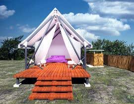 EKRAMUL825 tarafından Small boutique campsite design - 3d exterior design including landscape for a fancy camp ground (glamping) için no 22