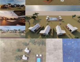 mertcanonder tarafından Small boutique campsite design - 3d exterior design including landscape for a fancy camp ground (glamping) için no 13