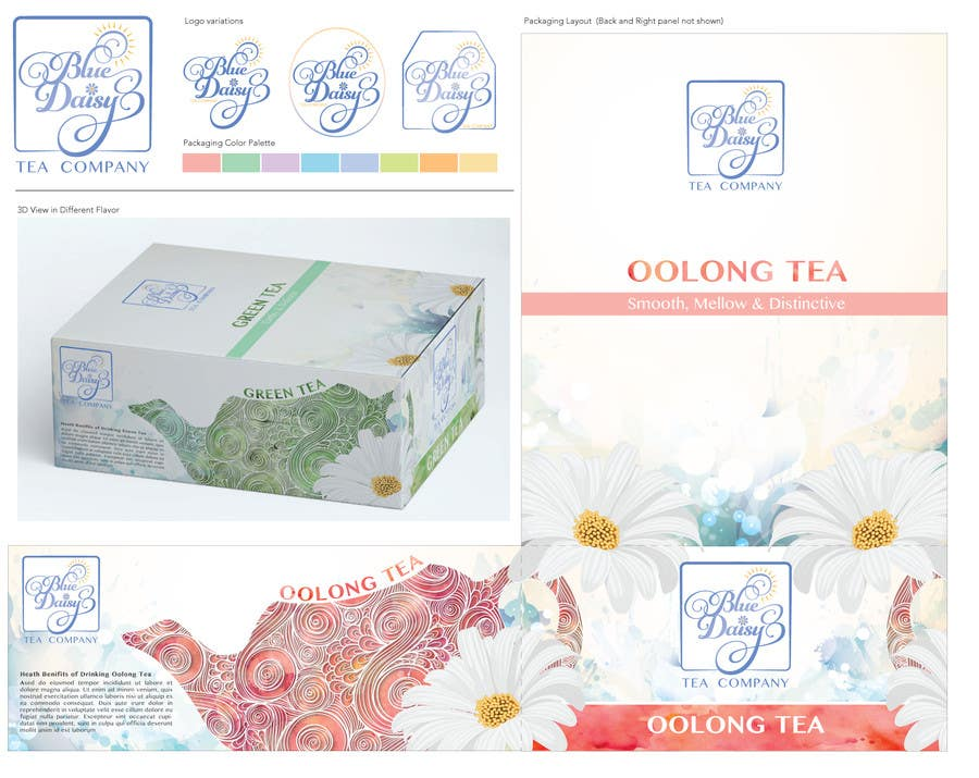 Contest Entry #                                        38                                      for                                         Create Print and Packaging Designs for Blue Daisy Tea Company