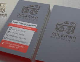#25 untuk Create a logo and business card design for Milkman Recordings. oleh MaxKh87