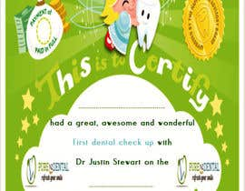 #15 for Illustrate Something for Kids Dental Certificate by Yousra14