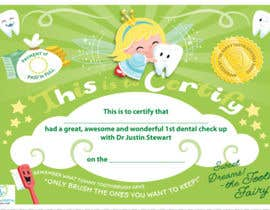 #1 untuk Illustrate Something for Kids Dental Certificate oleh HansLehr