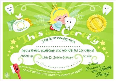 Nro 2 kilpailuun Illustrate Something for Kids Dental Certificate käyttäjältä mogado