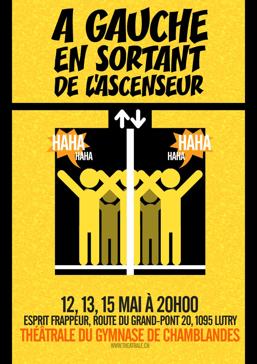 Proposition n°                                        19                                      du concours                                         Design a Flyer for Theatrical Comedy