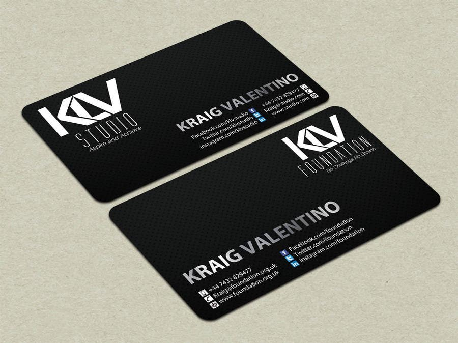 Konkurrenceindlæg #                                        194                                      for                                         Design some Business Cards for KLV Studio
