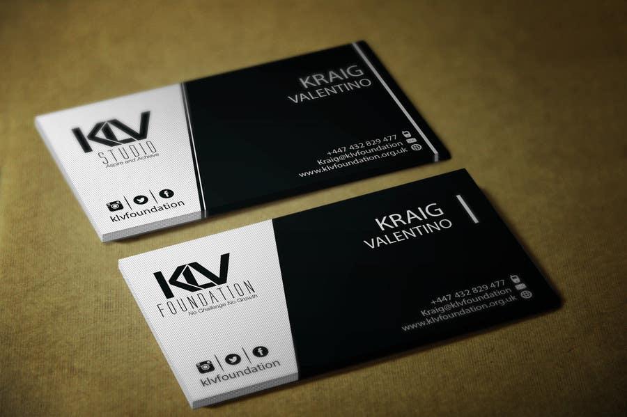 Konkurrenceindlæg #                                        188                                      for                                         Design some Business Cards for KLV Studio