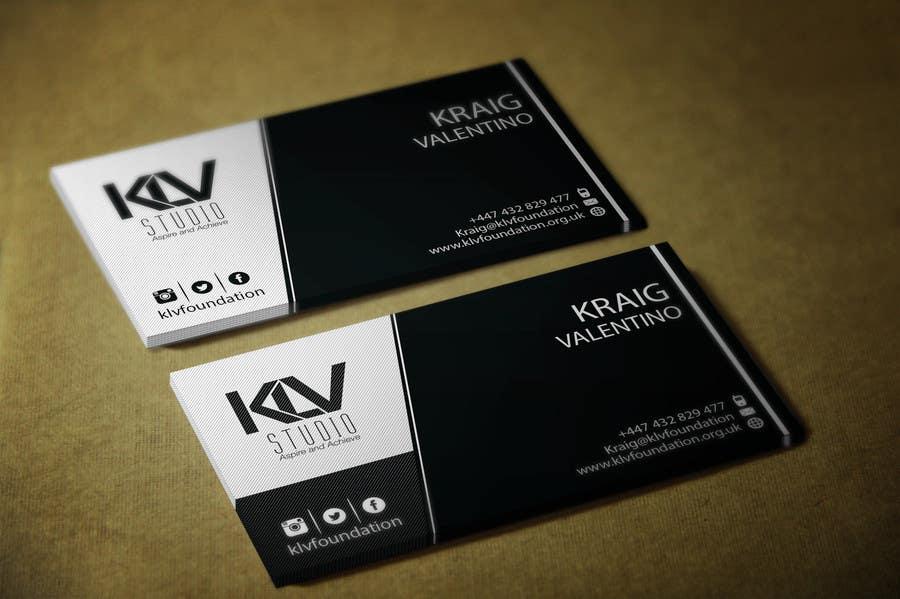Konkurrenceindlæg #                                        190                                      for                                         Design some Business Cards for KLV Studio