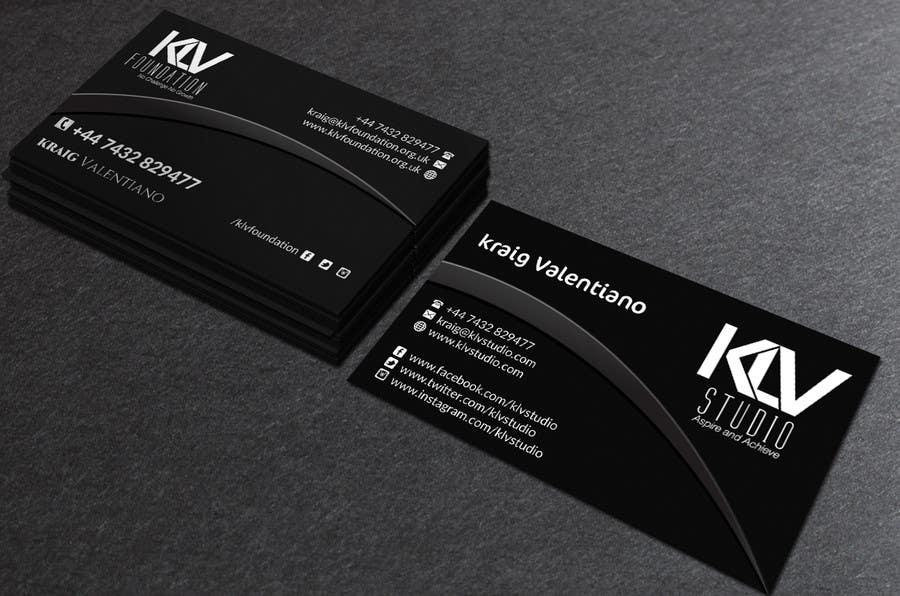 Konkurrenceindlæg #                                        185                                      for                                         Design some Business Cards for KLV Studio