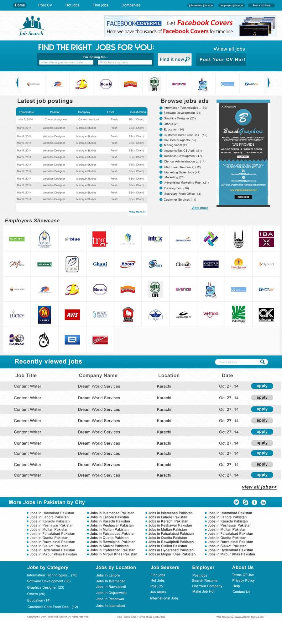 Konkurrenceindlæg #10 for Design a Website Mockup for a Job Search Engine