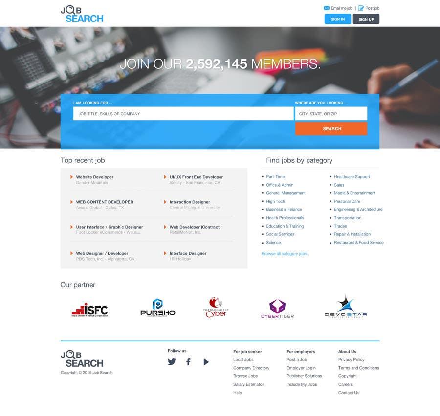 Konkurrenceindlæg #37 for Design a Website Mockup for a Job Search Engine