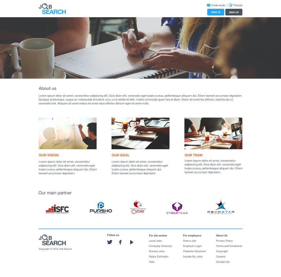Konkurrenceindlæg #51 for Design a Website Mockup for a Job Search Engine
