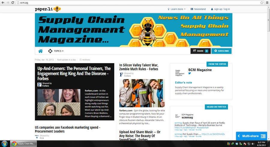 Kilpailutyö #17 kilpailussa Banner Ad Design for Paper.li site