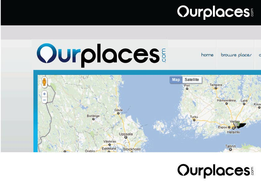 Contest Entry #212 for Logo Customizing for Web startup. Ourplaces Inc.