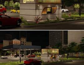 #110 para Design 3d drive-thru coffeeshop por ghannitp