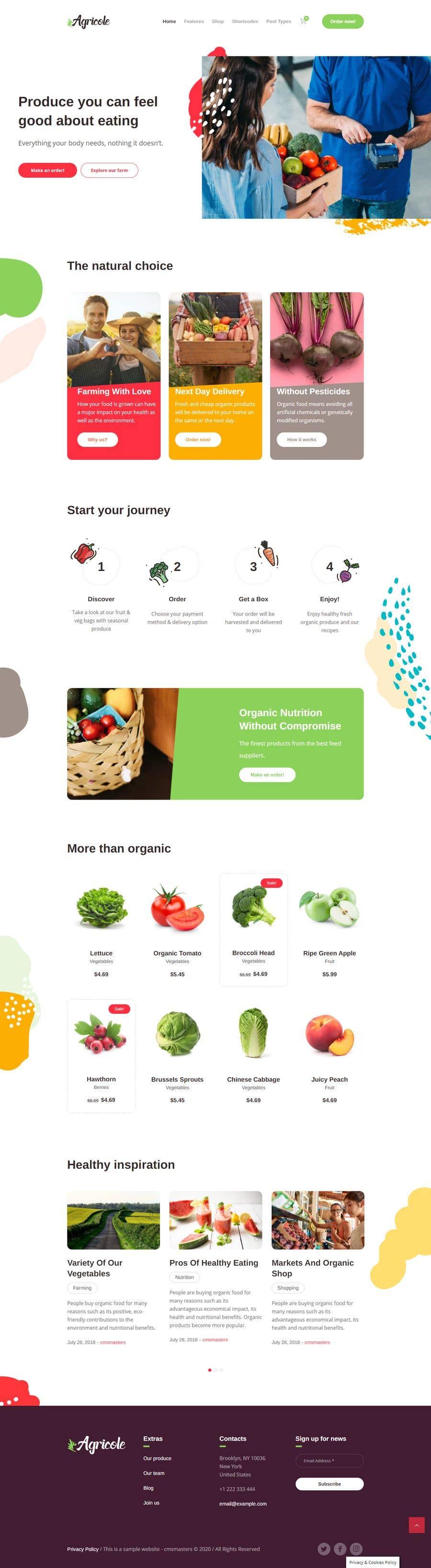 Penyertaan Peraduan #                                        33                                      untuk                                         Home page for online bio organic shop