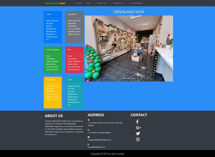 Penyertaan Peraduan #                                        29                                      untuk                                         Home page for online bio organic shop