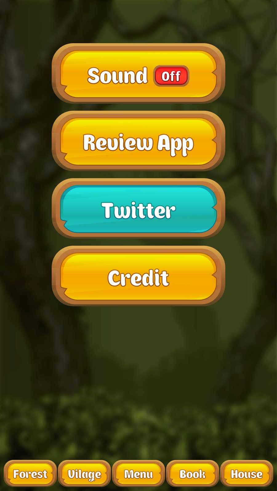 Contest Entry #                                        9                                      for                                         Forest Theme GameUI Design ( Only one screen )