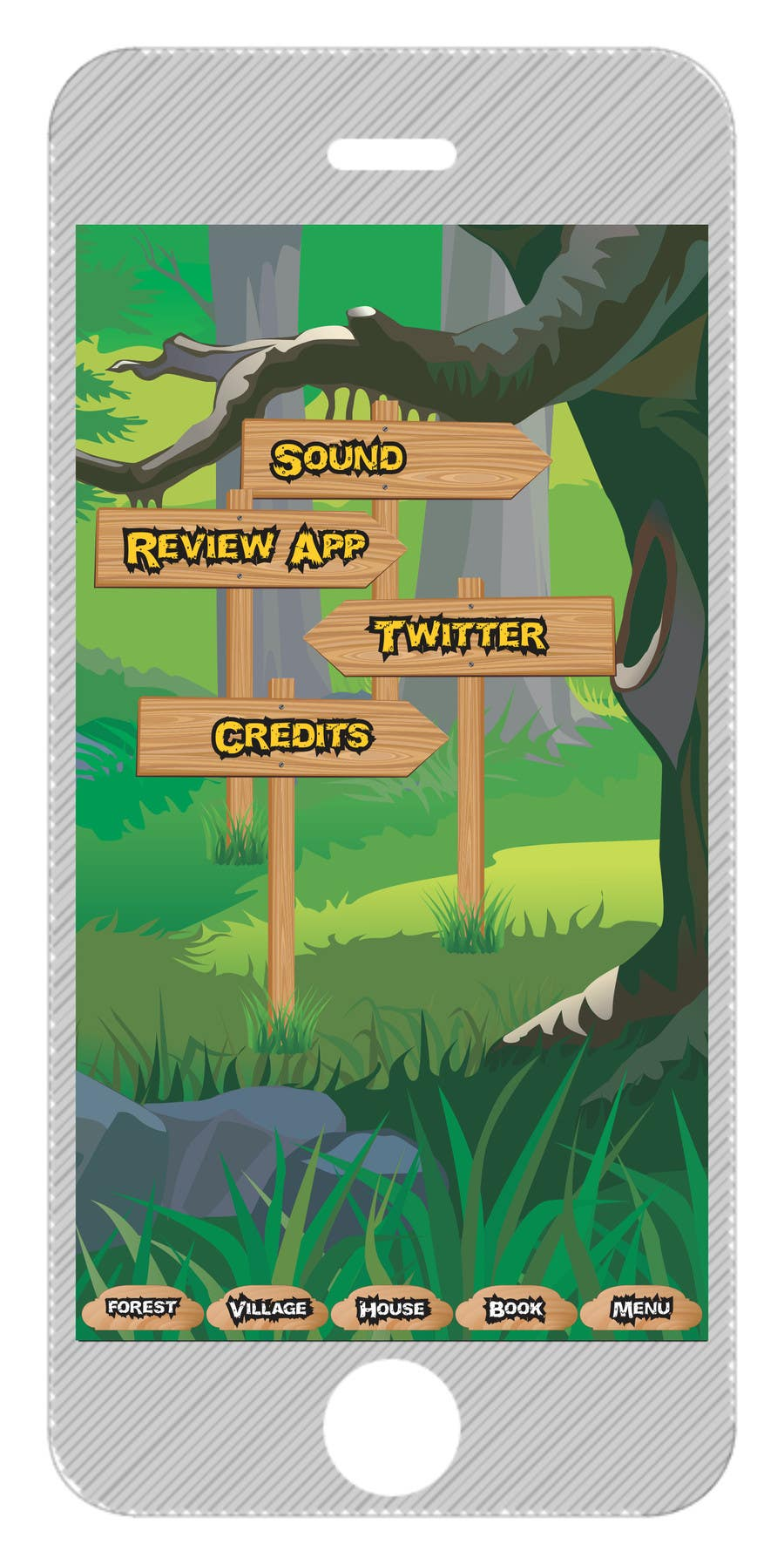 Contest Entry #5 for Forest Theme GameUI Design ( Only one screen )