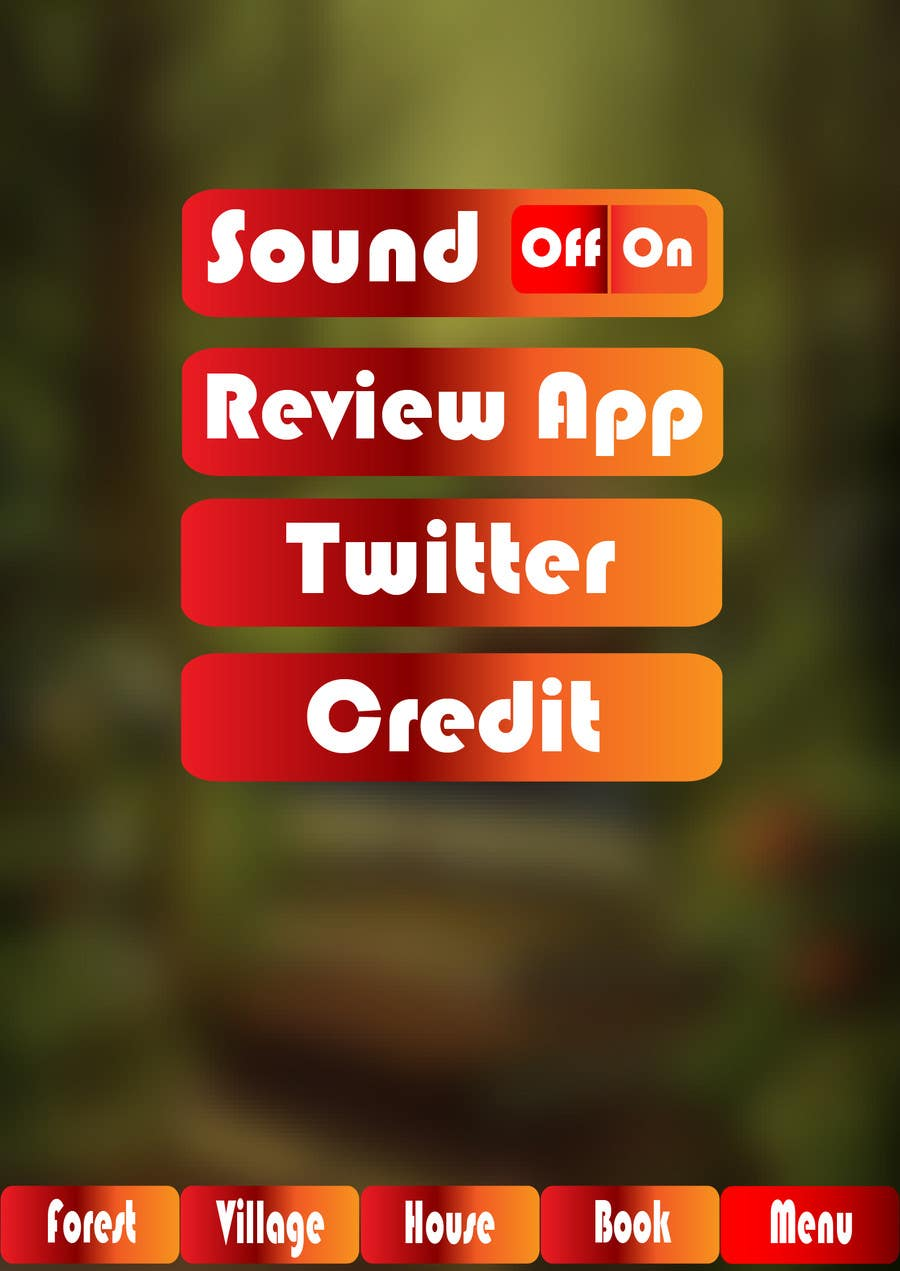 Contest Entry #                                        15                                      for                                         Forest Theme GameUI Design ( Only one screen )