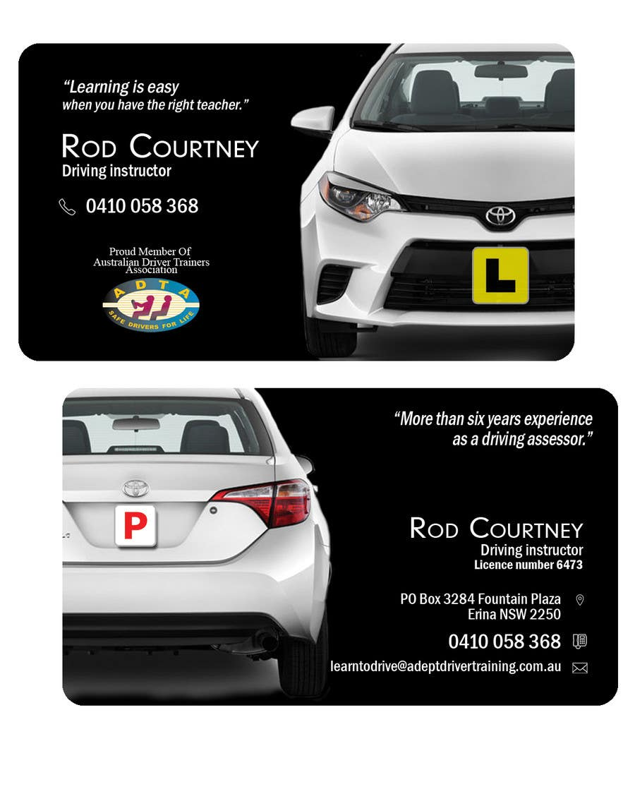 "Contest Entry #                                        137                                      for                                         Design some Business Cards for ""Adept Driving School"""
