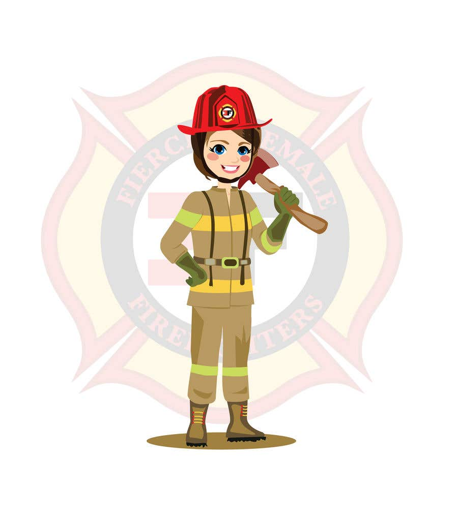 "Kilpailutyö #                                        3                                      kilpailussa                                         ideas & a design- all plush Female Firefighter Doll. 12-16"". my company is Triple F -means Fierce Female Firefighters. Wearing a firefighter uniform w/my Triple F firefighter logo on it, the Maltese cross 3F logo on the helmet shield."
