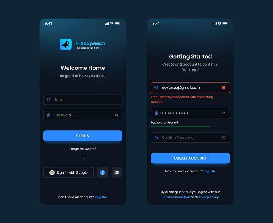 Contest Entry #                                        47                                      for                                         Design 4 mobile app screens