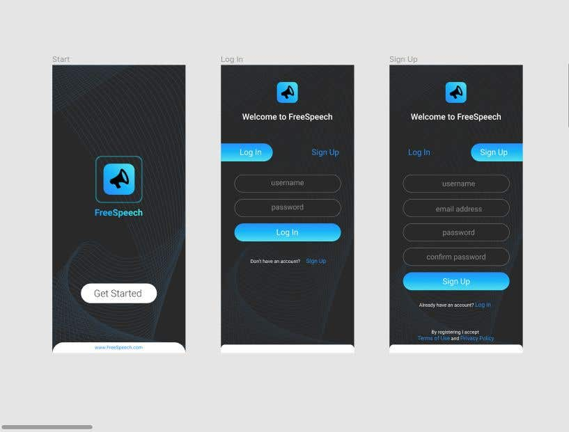 Contest Entry #                                        12                                      for                                         Design 4 mobile app screens