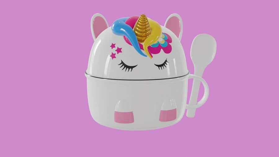 Konkurrenceindlæg #                                        5                                      for                                         Product Design Mock-up - Unicorn Ceramic Bowl