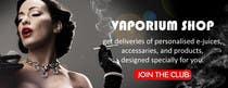 Design 350 x 100 Banner for Vape E-Cig Juice website için Graphic Design13 No.lu Yarışma Girdisi