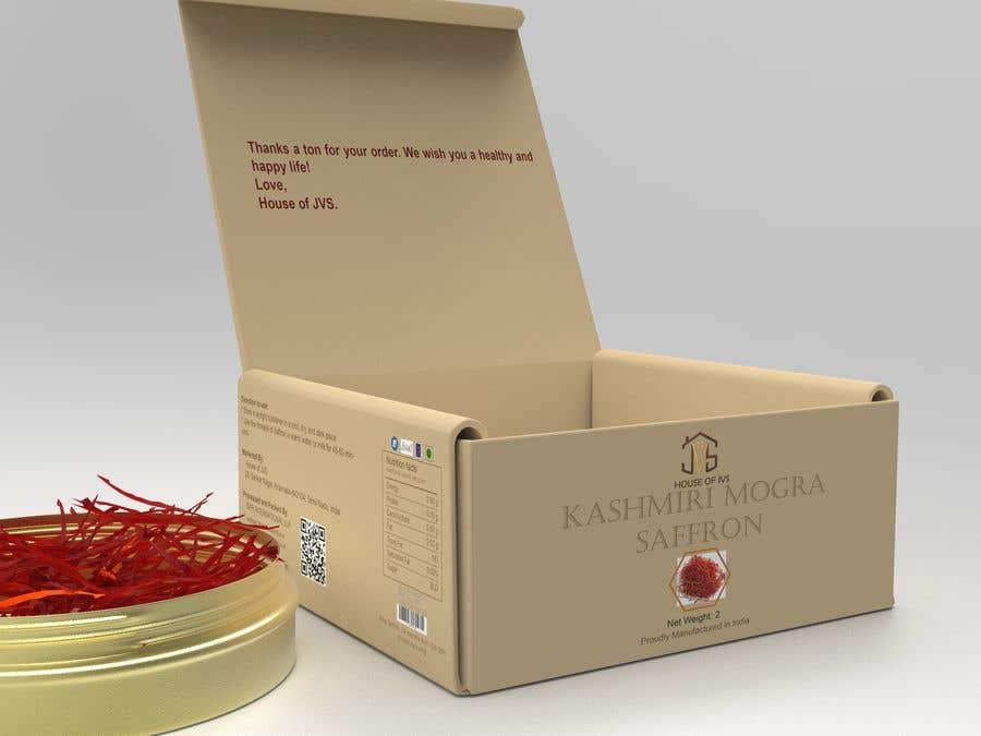 """Intrarea #                                        12                                      pentru concursul """"                                        Brand design for the product container/package (Metal Jar)  - Saffron Threads                                     """""""