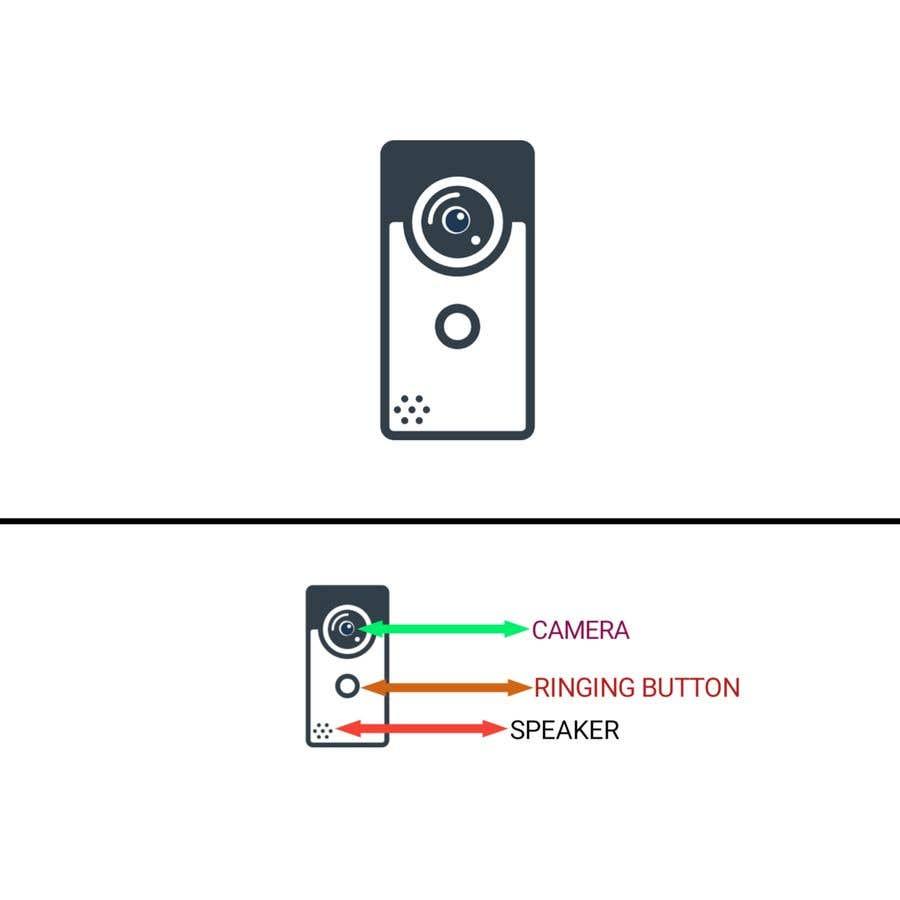 Bài tham dự cuộc thi #                                        5                                      cho                                         Design for doorbell device.