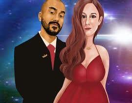 Nro 59 kilpailuun Illustrate a painting of me and my partner käyttäjältä SwarGal