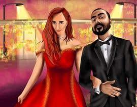 Nro 42 kilpailuun Illustrate a painting of me and my partner käyttäjältä Murkmalik