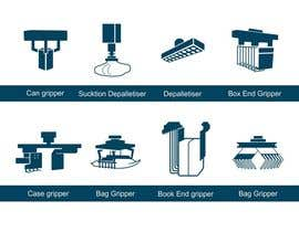 #13 para Design some Icons for robotic machinery implements por lanangali