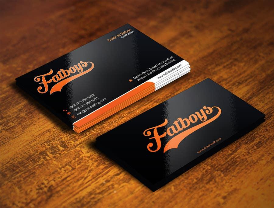 Konkurrenceindlæg #                                        26                                      for                                         Design some Business Cards for Fatboys