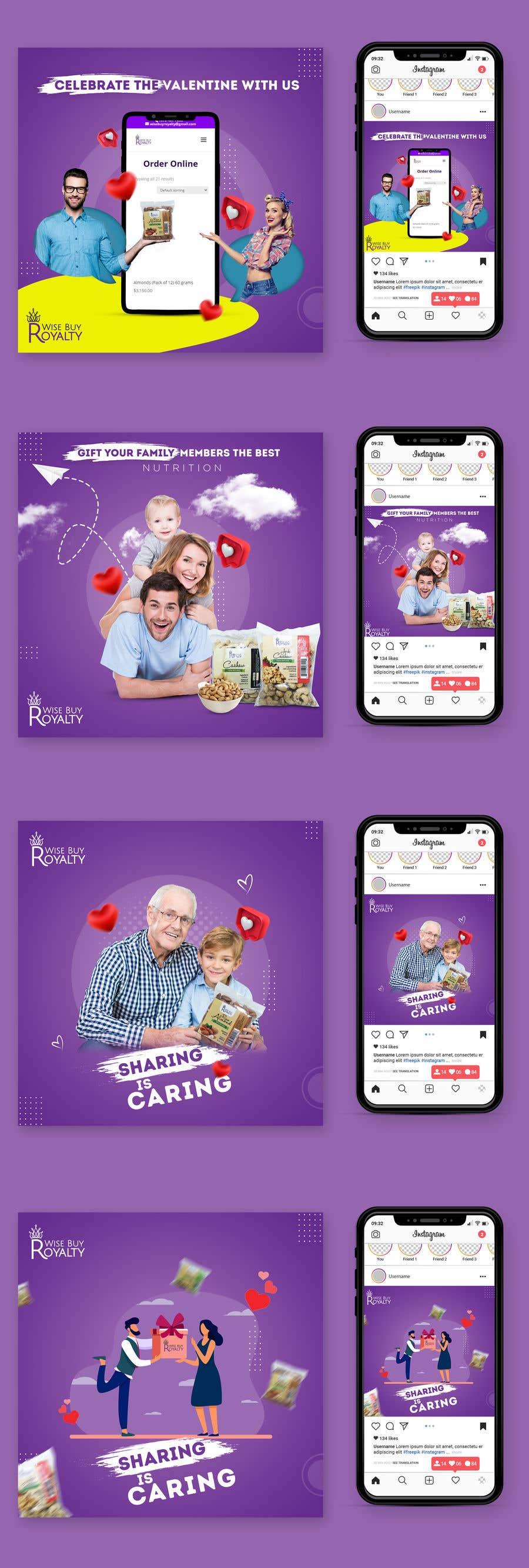 Kilpailutyö #                                        45                                      kilpailussa                                         Need 4 facebook / Instagram post for valentines day