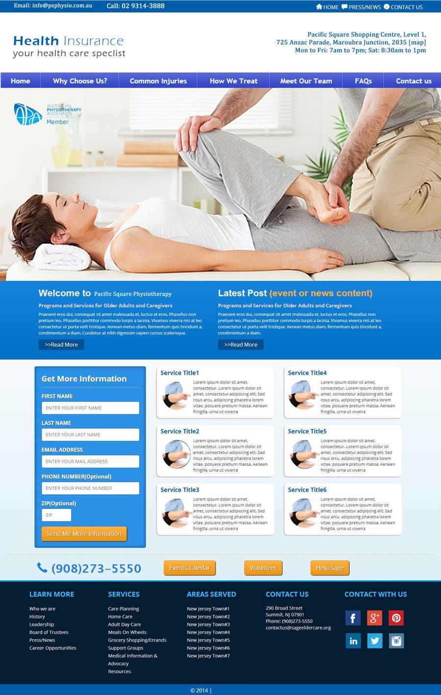 Konkurrenceindlæg #5 for A Website for a Health Insurance Company.