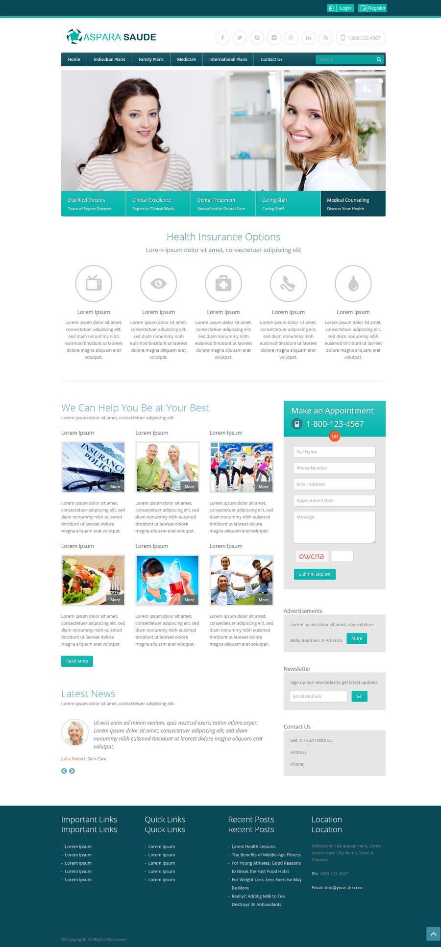 Konkurrenceindlæg #10 for A Website for a Health Insurance Company.