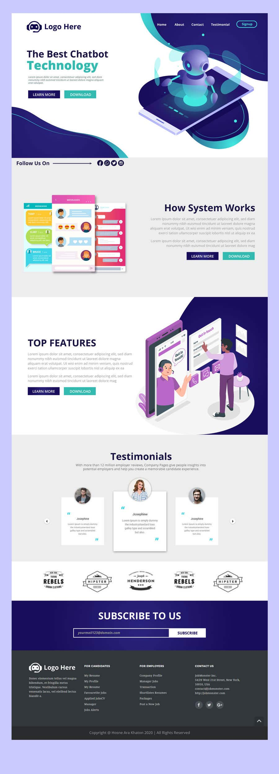 Bài tham dự cuộc thi #                                        45                                      cho                                         I need a Landing Page Website for Small Business Stores