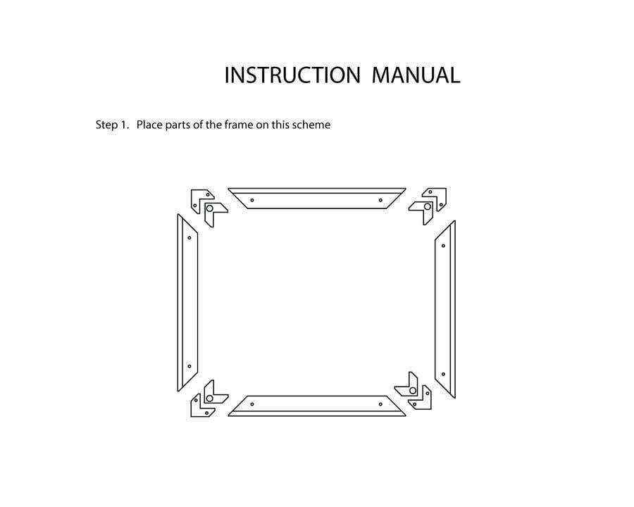 Конкурсная заявка №                                        14                                      для                                         Assembly Instruction for picture frames! (Drawing instruction)